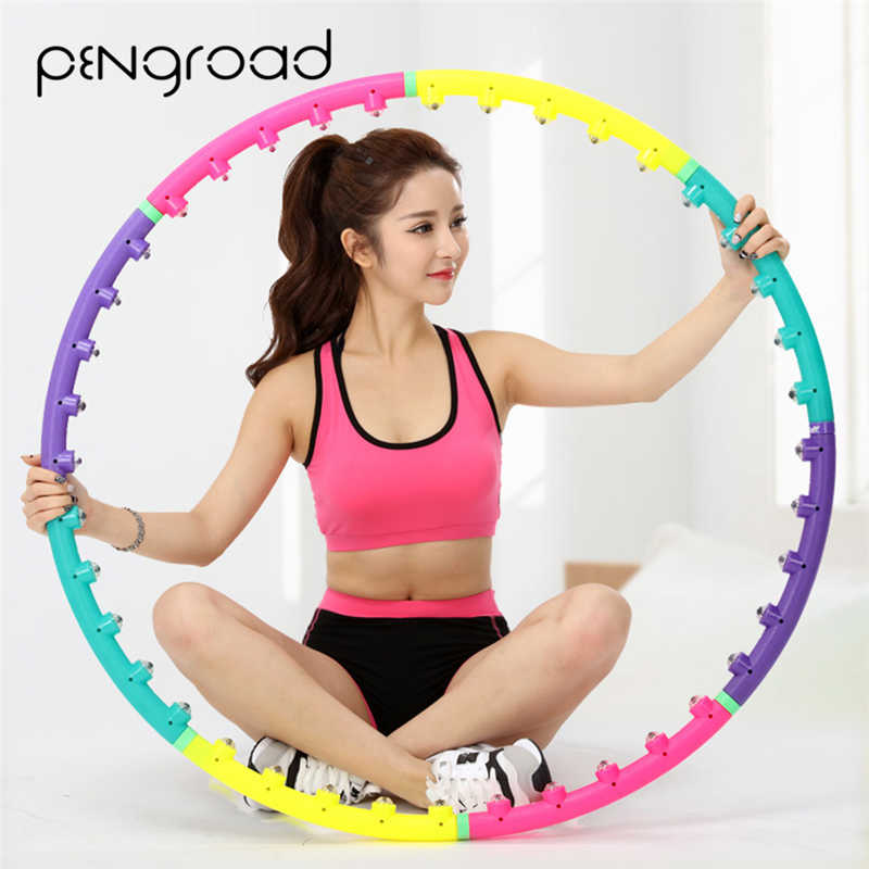 PENGROAD Waist Exercise Massage Sport Hoops Magnet Hard Tube Yoga Circle Gymnastics Ring Women Reduce Weight Fitness Equipments