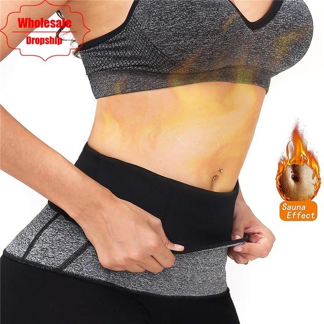 8511c09933 NINGMI Hot shaper Waist Trainer Body Modeling Belt Women Neoprene Sweat  Tummy Strap Slimming Fitness Corset Belly Band Shapewear