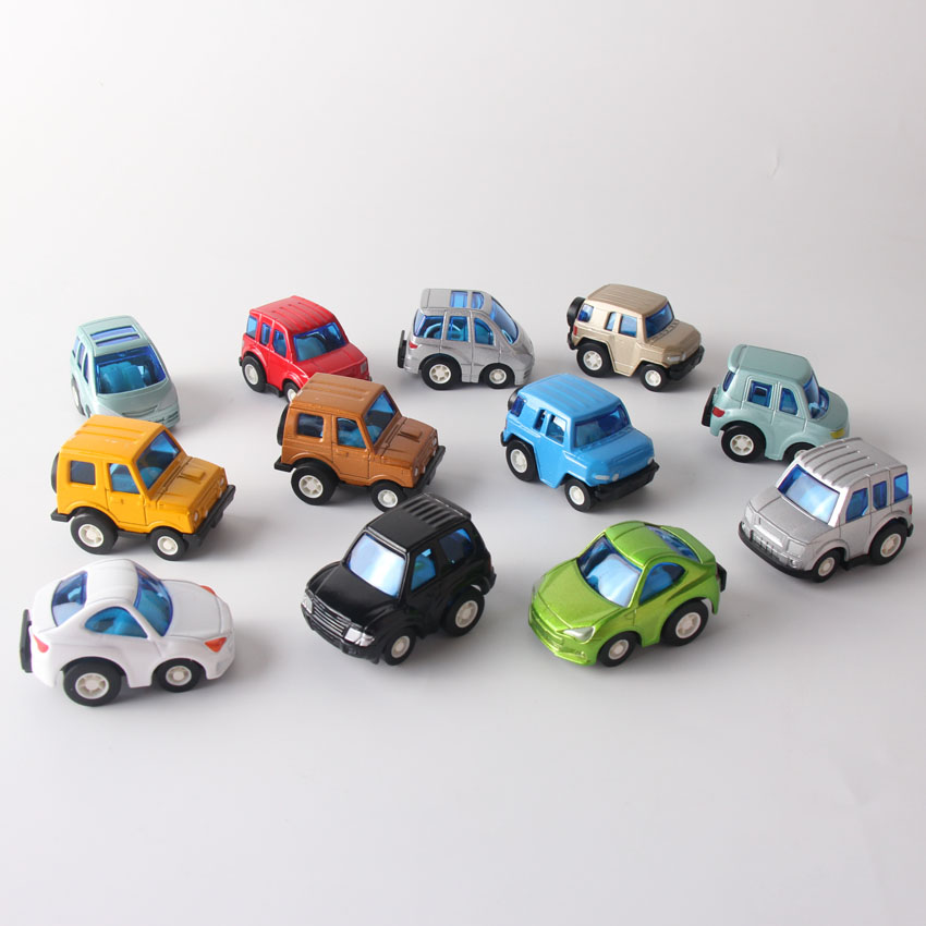 Random 1piece Diecast Alloy Toy Metal Cars Mini Small Truck Vehicle Machines Pull Back Car toys Jugetes for Children Gift image