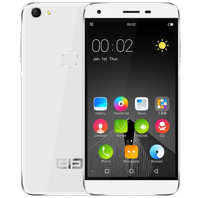 Original Elephone S1 Android 5.1 Mobile Phone 5.0 Inch 3G MTK6580 Quad Core Smartphone 1.3GHz 1G+8G Fingerprint Cellphone