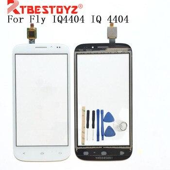 RTBESTOYZ 4,5 HQ Color blanco negro para Fly IQ4404 IQ 4404 digitalizador de pantalla táctil + herramientas