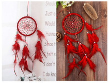 1PC New Fashion India Style Handmade Dream Catcher Net With feathers Wind Chimes Hanging Carft Gift For Home Decoration MJ 001