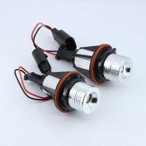 2 قطع خطأ شحن LED عيون الملاك مصباح تحديد أبعاد المركبة لمبات ل BMW E39 E53 E60 E61 E63 E64 E65 E66 E87 525i 530i xi 545i M5