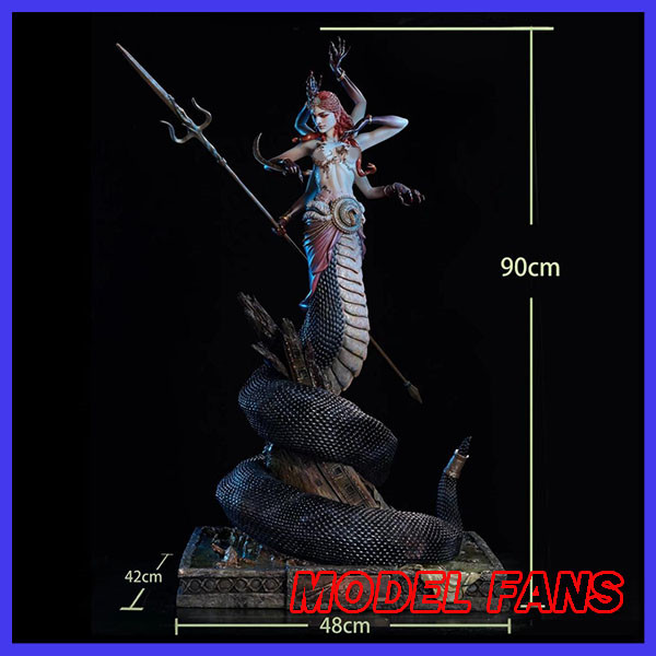 MODEL FANS INSTOCK lin studio wow 1/4 naga red 90cm height gk resin statue figure for collection цена 2017