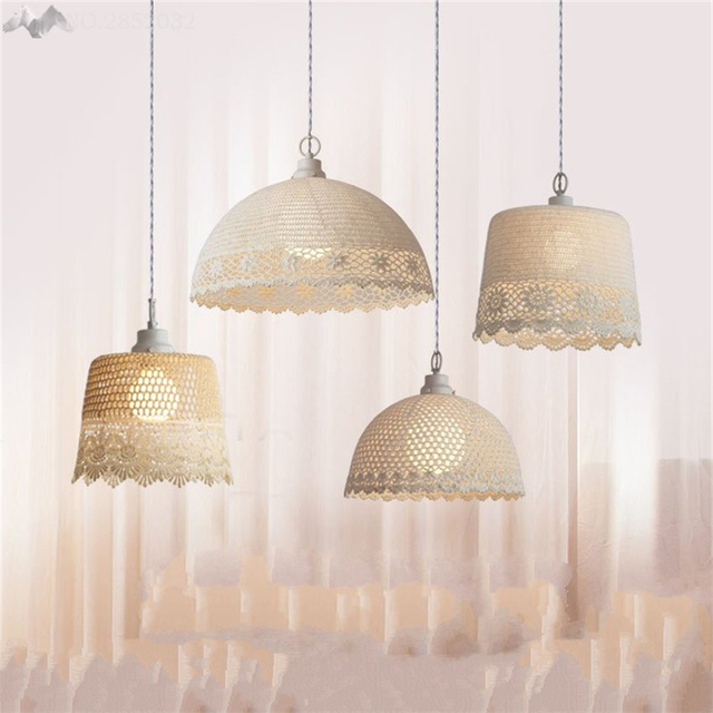 Jw nordic style modern fabric pendant lamp creative romantic jw nordic style modern fabric pendant lamp creative romantic princess girl bedroom lamp for living room aloadofball Images