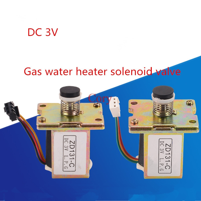 1pc dc 3v selfsuction universal gas solenoid electromagnet valve zd131c  for water heater