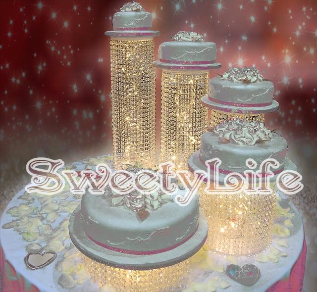 Crystal Wedding Cake Stand  Wedding Centerpiece  Wedding Cake Display    5PCS/lot
