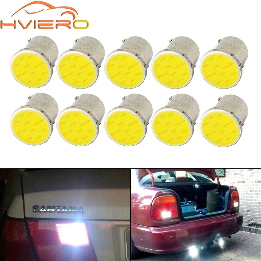 10pcs/lot Super White cob p21w led 12SMD 1156 1157 BA15S 12v bulbs RV Trailer Truck car styling Light parking Auto led Car lamp