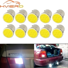 10X White Cob P21 5w 12Led 1156 BA15S 1157 BAY15D DC 12v Rv Trailer Truck Led Parking BulbS Auto Width Lamp License Plate Light