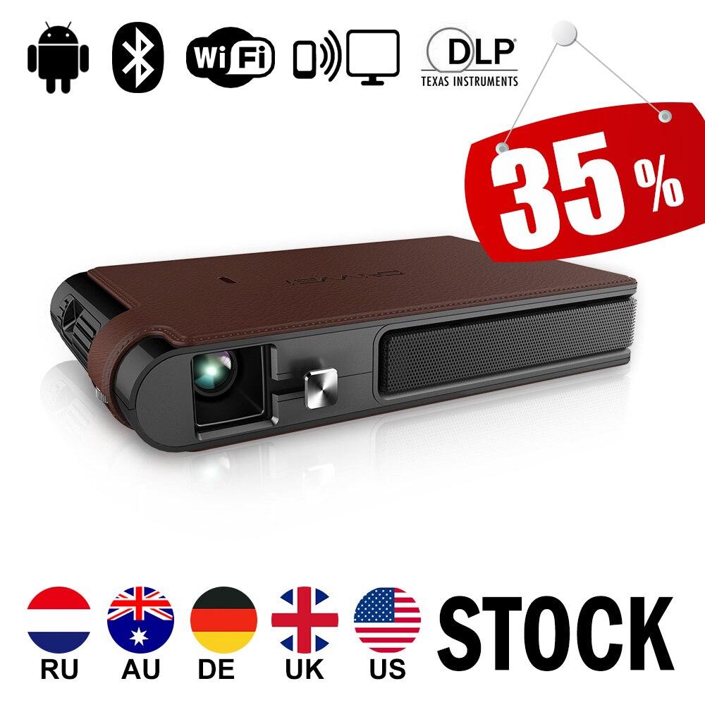 CAIWEI WIFI Home Cinéma Mini Portable LED Pico 3D DLP Projecteur 1080 P Vidéo Proyector avec Android Bluetooth Miracast Airplay