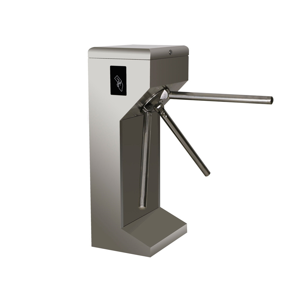 Pedestrian access control barrier gate factory price rfid reader stainless steel full automatic vertical Tripod turnstile access control system factory price vertical semi automatic tripod turnstile gate