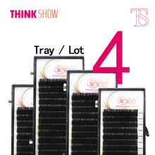 4 Trays 12 Lines All Size 8--15mm B/C/D Curl Thick High Quality Eyelash Extension Mink Eye lashes Individual Eyelashes