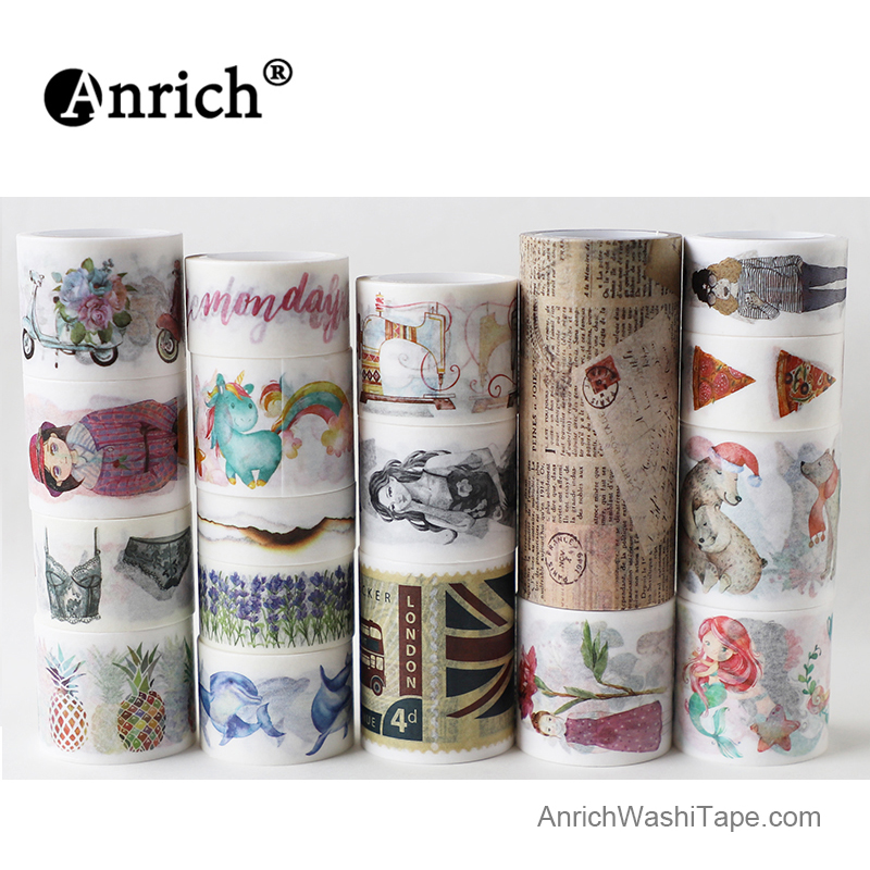 Free Shipping Washi Tape,Anrich Washi Tape,ancient,newspaper,fish,customizable Sale Price Newspaper Pattern #19445