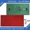 50 шт./лот Полу-Открытый p10 Красный СВЕТОДИОДНЫЙ дисплей модуль 320*160 мм 32*16 пикселей
