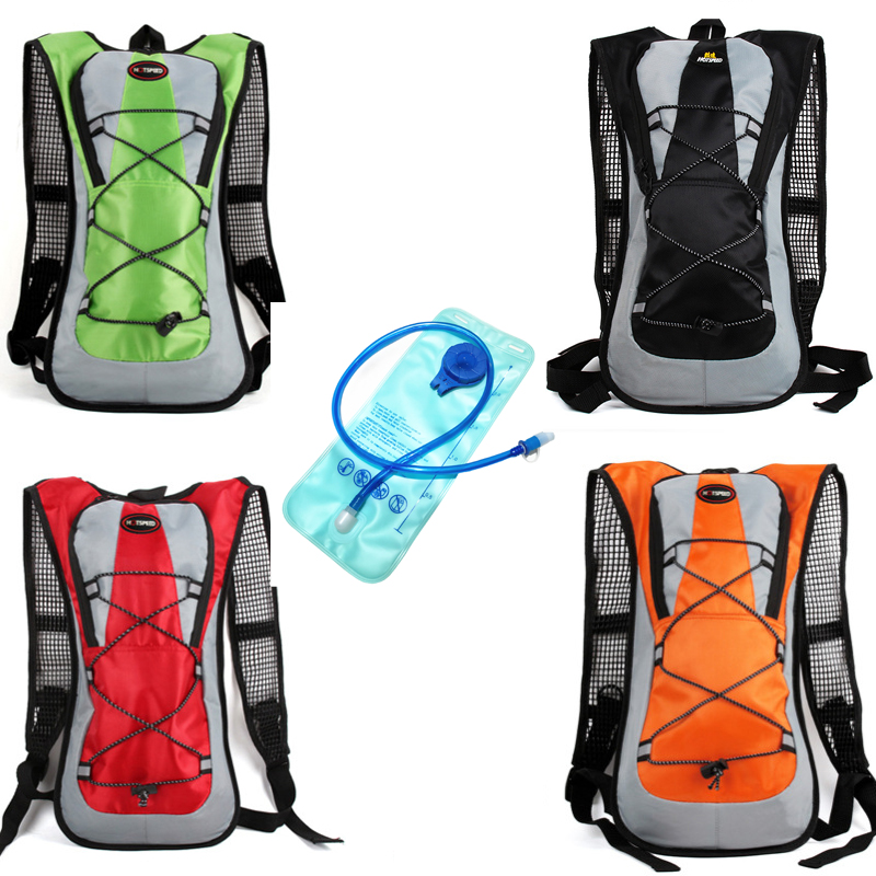 2L Water Bag + 5L Waterproof Backpack Outdoor Climbing Cycling Camping Sport Water Bladder Hydration Backpack Camelback outdoor running cycling backpack 2l bladder water bag sports camping hiking hydration backpack riding camelback bag