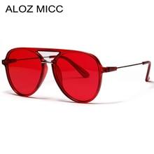ALOZ MICC 2019 New Red Women Brand Pilot Sunglasses for Men Fashion Color Big Frame Acetic sun glasses Female Shades Oculos Q350