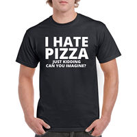 T Shirt I Hate Pizza Mens S Funny Tee Sleeve Food New Humor Top Adult Casual