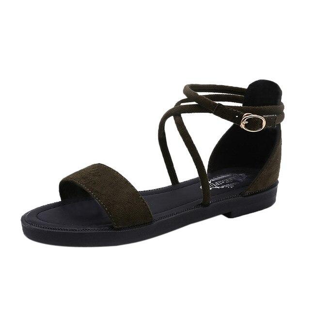 Сандалии; женские летние сандалии из флока с перекрестными ремешками; женские сандалии; Эспадрильи на танкетке; женские сандалии-гладиаторы на низком каблуке