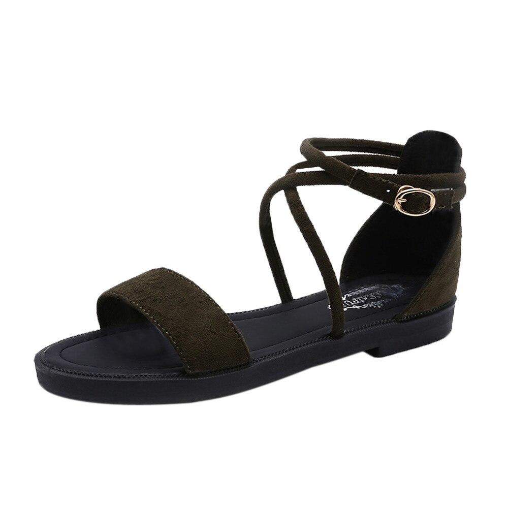 Sandals Women Summer Flock Cross Strap Sandals Shoes Female Sandals Espadrilles wedge Women Low Heels Sandals Gladiator cross cross suede wedge sandals