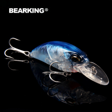 Bearking hot professional crank bait  fishing lures,65mm/14g,bear king,dive 2.5m each lot 5pcs different colors free shipping