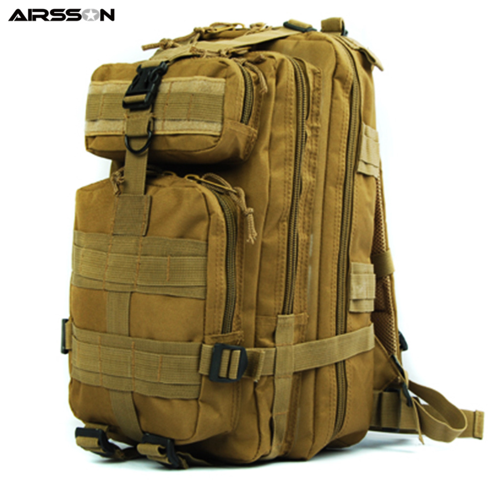 Tactical Large Capacity Backpack Military Men Hydration Assault Molle Bag Sport Hiking Camping Hunting Equipment Heavy Duty ultimate arms gear dark earth tan tactical scenario military hunting assault vest w right handed quick draw pistol holster and heavy duty mag pouch belt od olive drab green 2 5 liter 84 oz replacement hydration backpack water bladder reservoir in