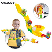 OCDAY New Cartoon Snake Track Toy for Tracks Creative Magic Fancy DIY Toy Jumping Fun Beans Toys For Kid Children Xmas Gifts