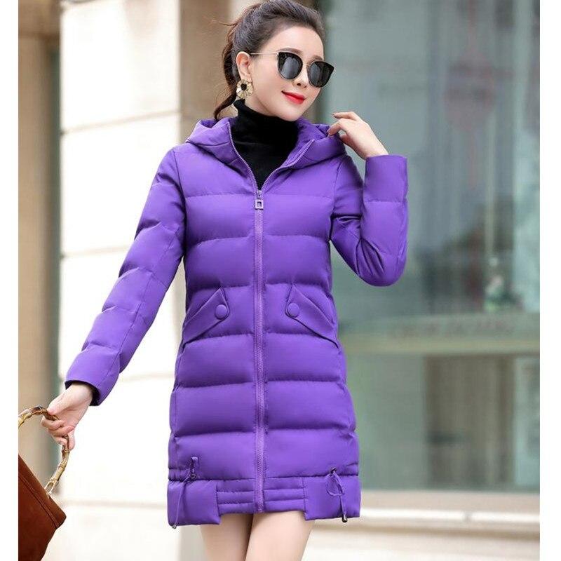 Chaud Taille purple Outerweartemperament Capuche Womenwinter Coat1079 gray Slim Black D'hiver Blue Parker Newplus Veste Long Coton red Dame À magenta Uhytgf Down H5zFwqn