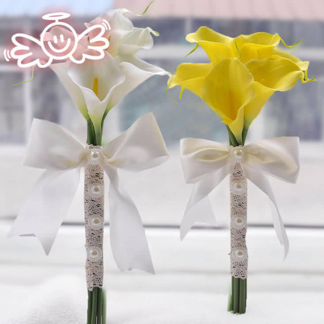 wedding accessories Artifical Calla Flowers Wedding Bouquet Bridal Bridesmaid Flower wedding bouquet white bridal bouquets FW164