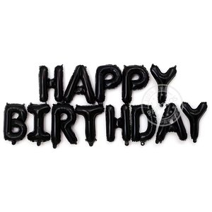 Image 5 - 13pcs Happy Birthday Letter Balloons 16inch Foil Ballons Birthday Party Decorations Rose Gold Silver Black Globos Gifts Supplies