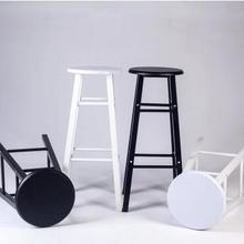 Iron bar chair. The foot stool. Long leg bar chairs.