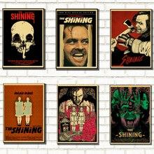 Блестящий фильм ужасов Ретро плакат домашний интерьер украшения Крафт игра плакат Рисунок живопись наклейки на стену