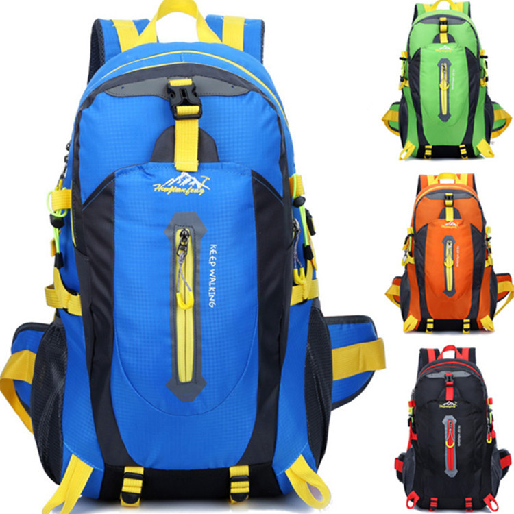 HUWAIJIANFENG 2017 New 14color outdoor mountaineering bag waterproof nylon travel couple shoulder leisure sports backpack40L