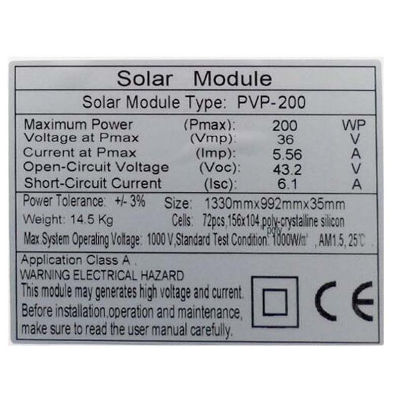 Placa Solar 36v 200w 4 Pcs Paneles Solares Fotovoltaicos 800w Chargeur Solaire Light Lamp Motorhome Caravana Car Caravan in Solar Cells from Consumer Electronics