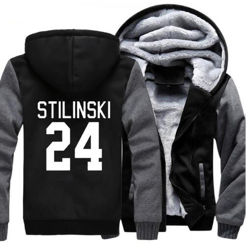 Wolf Stilinski 24 Men Sweatshirt 2018 New Winter Warm Thick Fleece Zip Up Hooded Hoodies TV Show Jacket Coat Sportwear Male 5XL
