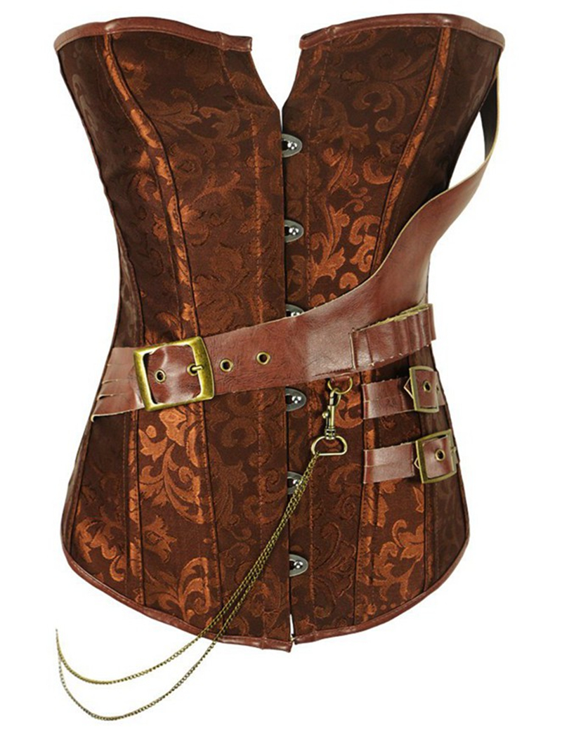A2230   Corsets   and   Bustiers   Steampunk Fashion Plus Size Steampunk Brown 6XL   Bustier     Corset   Body Shape Sexy   Corsets