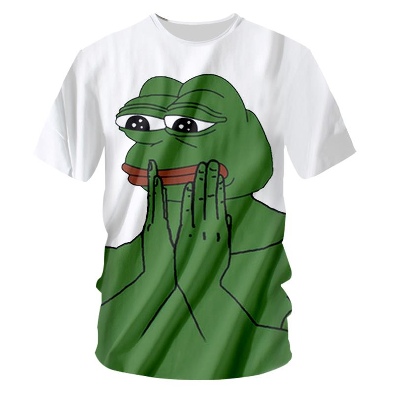 2018 High quality Cool T-shirt Men Women hot 3d Print The Frog Prince Shy ugly clothes t shirt Short Summer Tops Tee Hot style