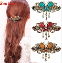 OTOKY Drop Shipping Hair Jewelry  Vintage Butterfly Hair Clips Hairpins Hair Clip Beauty Tools Jewelry For Gift F07