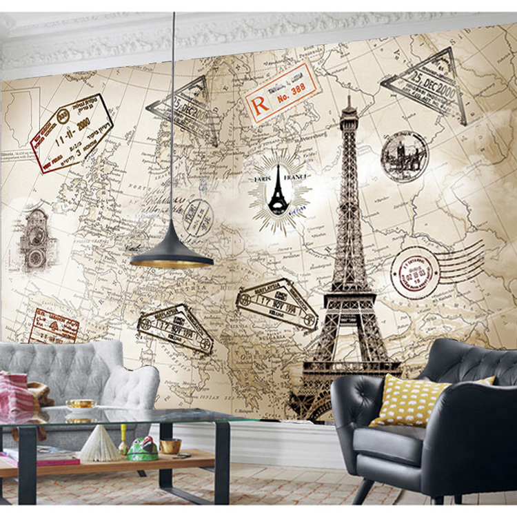 Beibehang european retro world map personalized custom wallpaper beibehang european retro world map personalized custom wallpaper murals wallpaper the living room tv backdrop 3d stereo in wallpapers from home improvement gumiabroncs Gallery