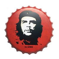 40 cm che guevara Metal Bottle Caps Decorative Tin Signs Cafe Beer Bar Decoration Plates Wall Art Plaque Vintage Home Decor