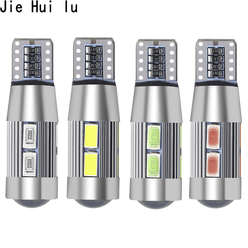 1Pcs Car Styling Car Auto LED <font><b>T10</b></font> 194 W5W <font><b>10</b></font> <font><b>SMD</b></font> 5630 LED Light Bulb No Error Lights Parking LED Car Side image