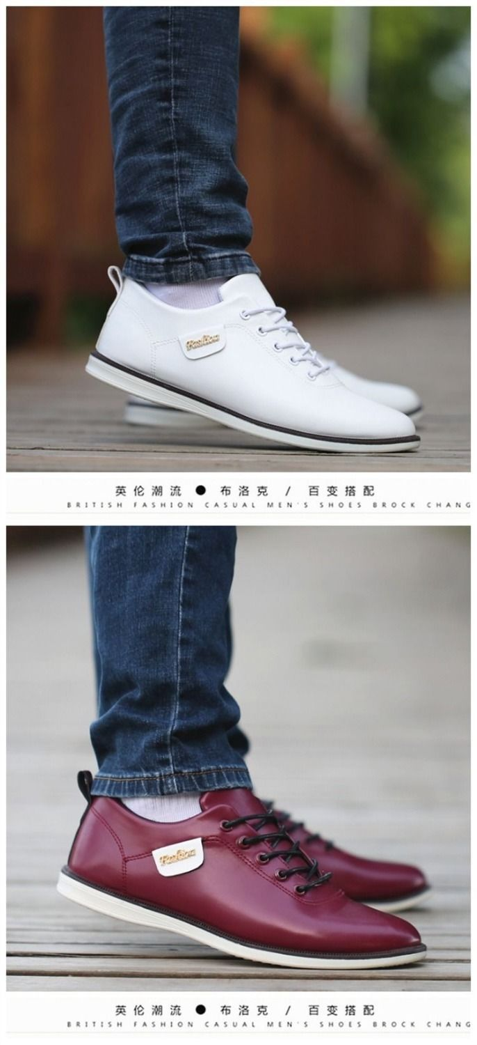 HTB1b6J.X.z1gK0jSZLeq6z9kVXaj Men's PU Leather Business Casual Shoes for Man Outdoor Breathable Sneakers Male Fashion Loafers Walking Footwear Tenis Feminino