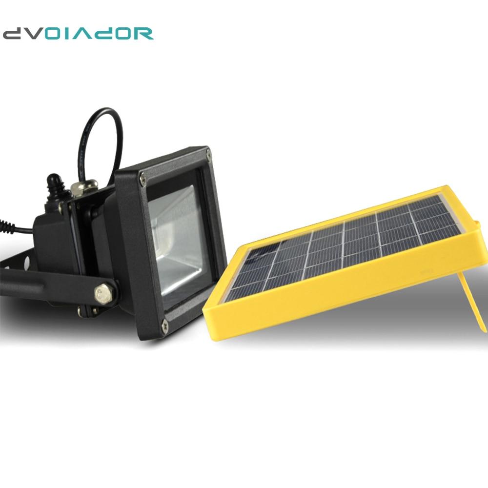 DVOLADOR Waterproof 10W Solar powered LED Flood light with 5M wire+ ...
