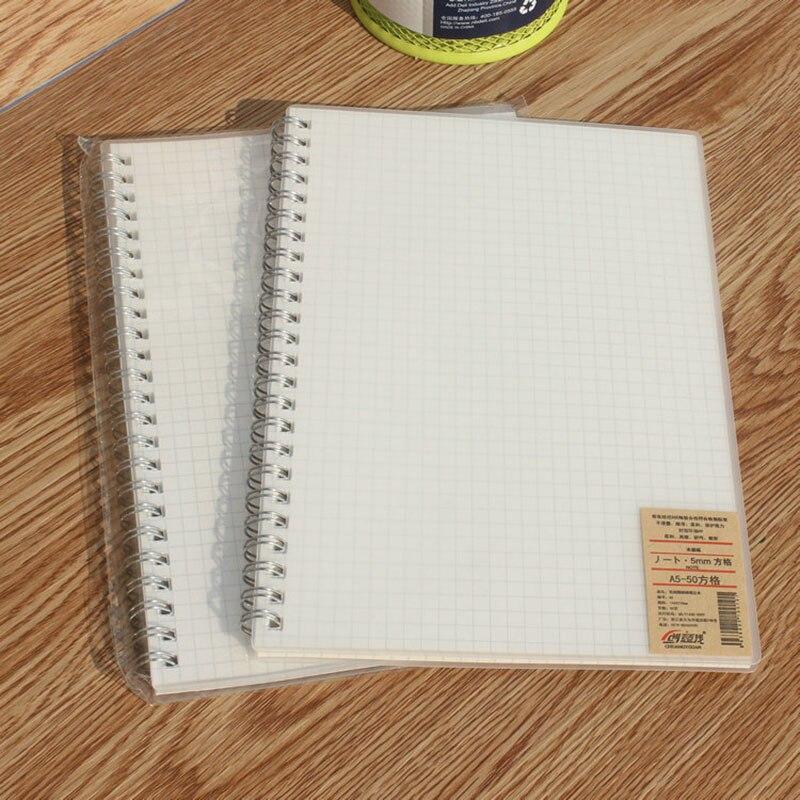 1 adet 50 yaprak basit ızgara dizüstü pratik ofis okul not defteri yaratıcı çizim grafiti kitap günlük notlar dizüstü