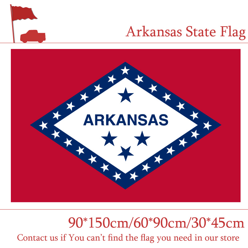 90*150cm 60*90cm <font><b>Arkansas</b></font> State Flag 3*5 Feet American Flag 30*45cm Car Flag image