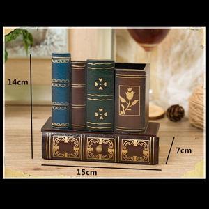 Image 3 - Multifonction rétro porte stylo en bois livre forme bois artisanat décor à la maison crayon boîte de rangement de bureau tiroirs porte papeterie Gi