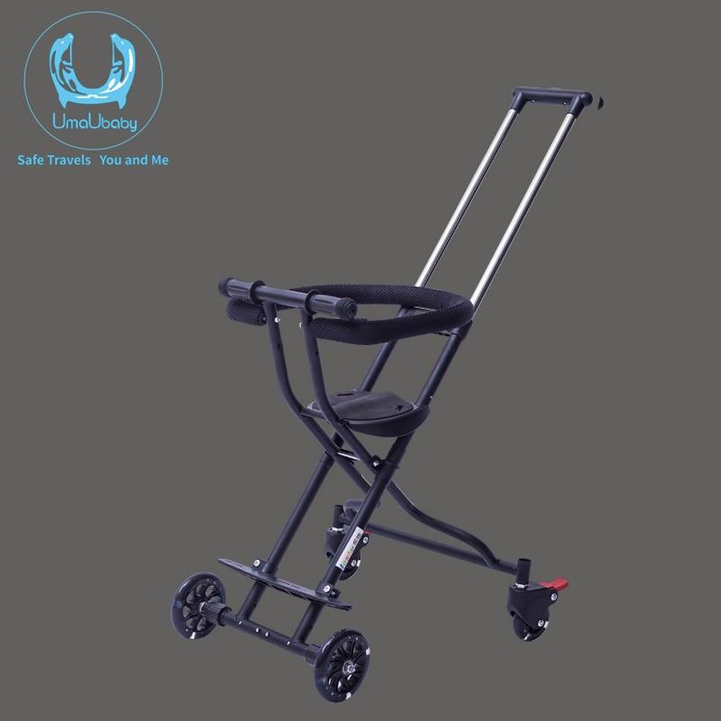 UmaUbaby Baby Stroller Ride on Bike ultra lightweight folding 3 5Y Children Trolley High Landscape Umbrella Baby Trolley
