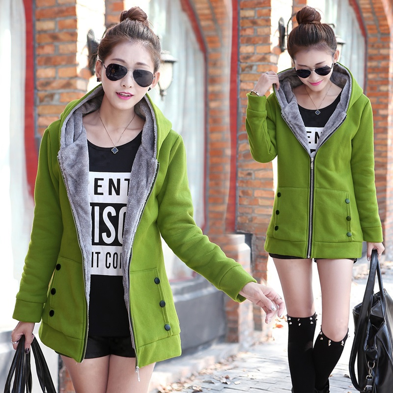 Hot sale New fashion 2019 autumn and winter warm women's coat thickening Sweatshirts Hoodies female jackets coat