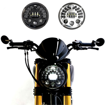1 Set 8790 7Inch Round Led Headlight for motor Motorcycle with amber Left turn signal and right signal and parking light smart