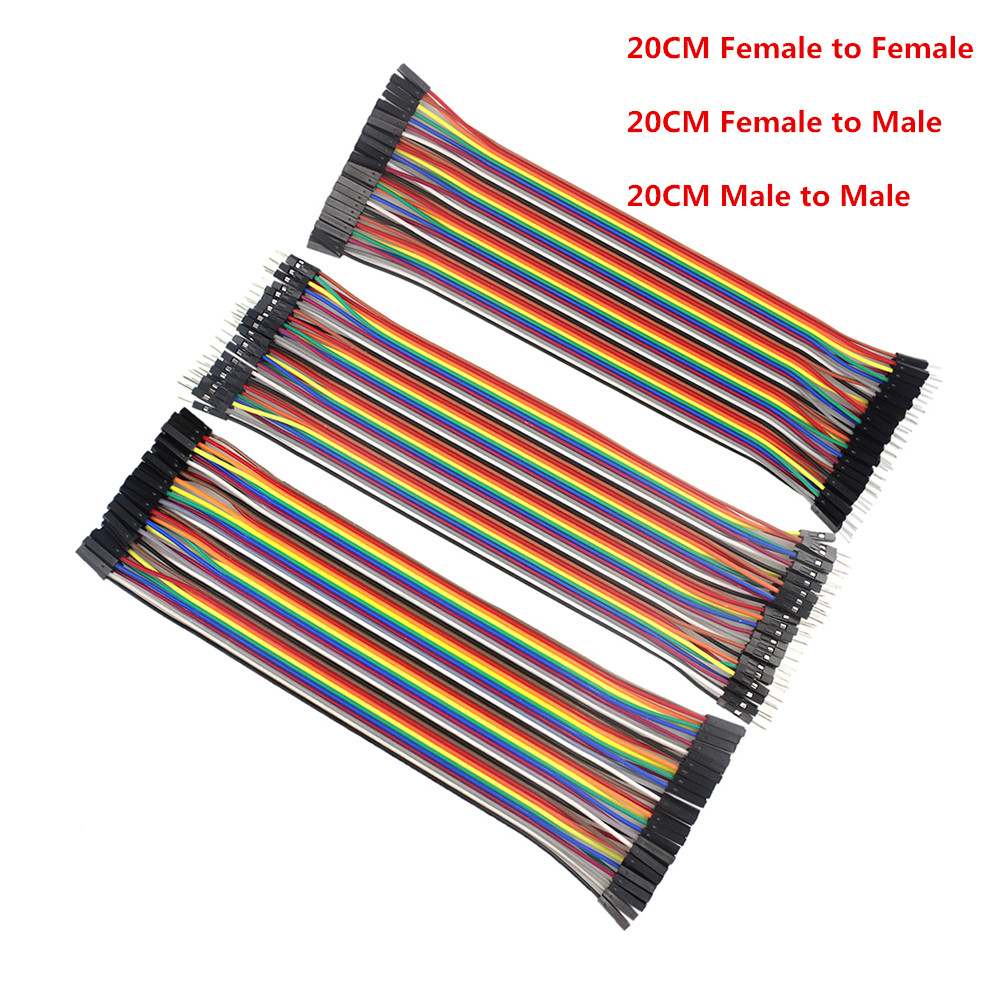 Dupont Line 120pcs 20cm Male to Male + Male to Female + Female to Female Jumper Wire Dupont Cable for arduino Diy Kit freeshipping 3d printer 3 pin dupont line female to female jumper cable connections 70cm