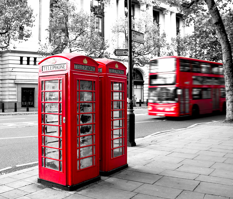 Bus Telephone Booth Black And White Modern Mural Wallpaper Background Wall Paper 3d Three Dimensional Wallpaper Mural Wallpaper Wall Paper 3dwall Paper Aliexpress